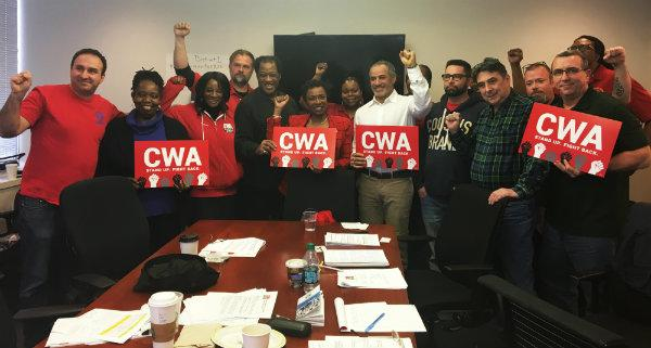 CWA District 1 members with Rep Yvette Clarke